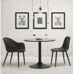 Fauteuil chaise design et moderne ORLY (noir)