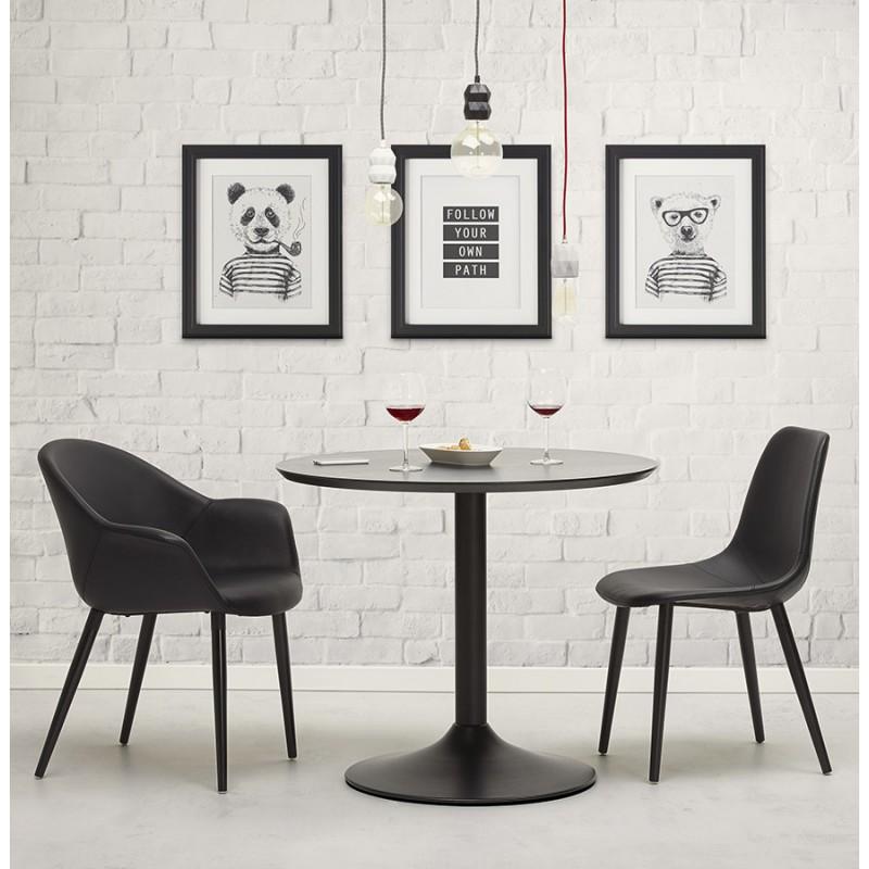 Fauteuil chaise design et moderne ORLY (noir) - image 29104