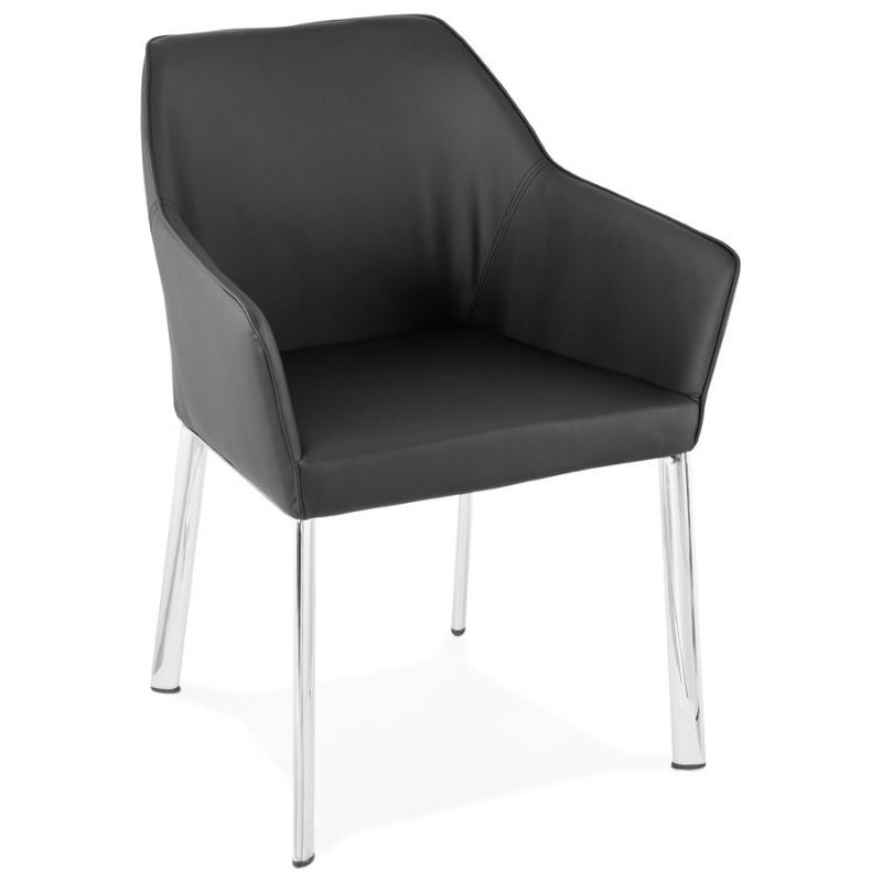Fauteuil chaise design et rétro MATEO (noir) - image 29105