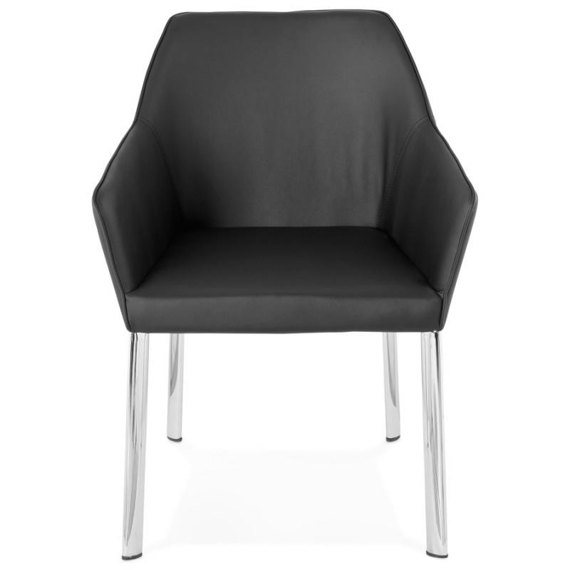 Fauteuil chaise design et rétro MATEO (noir) - image 29106