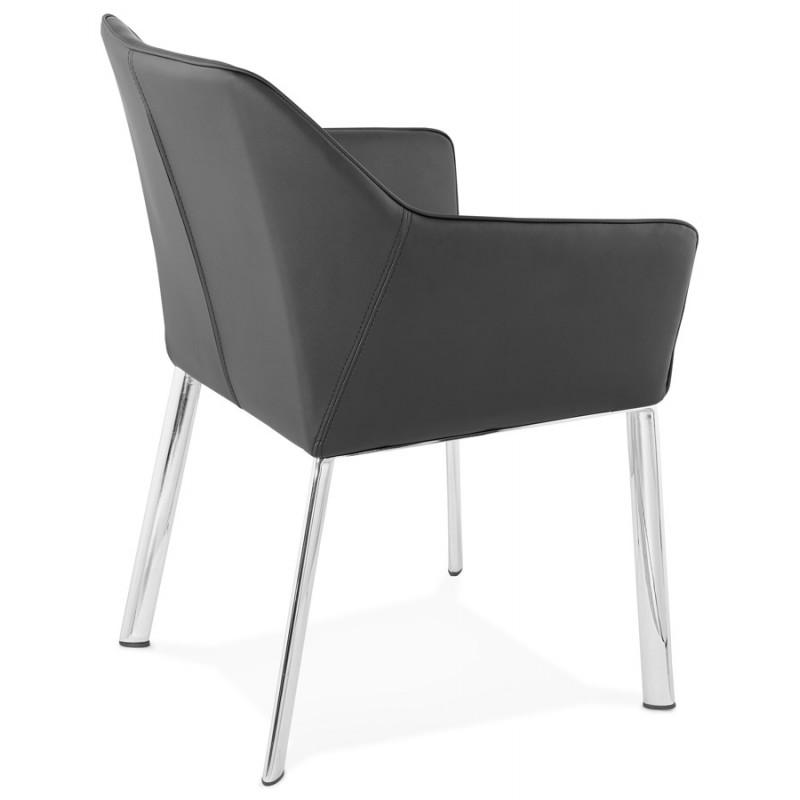 Fauteuil chaise design et rétro MATEO (noir) - image 29108