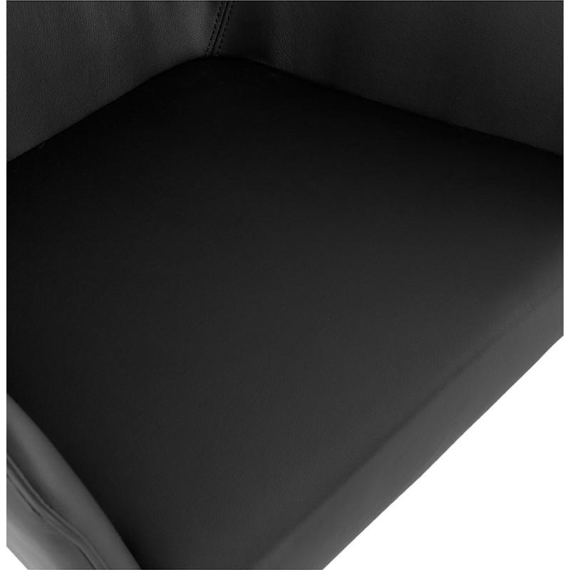 Fauteuil chaise design et rétro MATEO (noir) - image 29114
