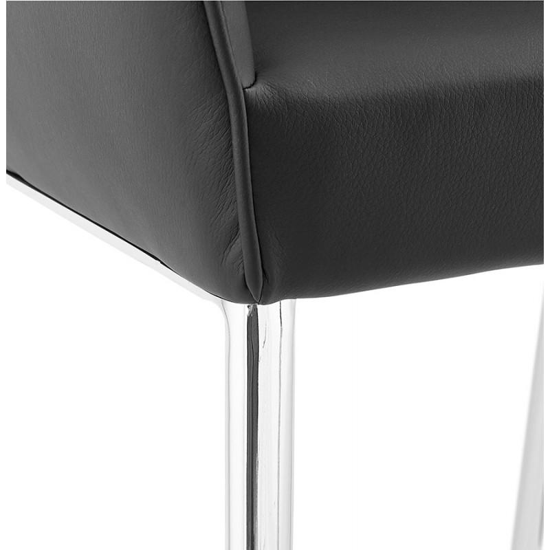 Fauteuil chaise design et rétro MATEO (noir) - image 29115