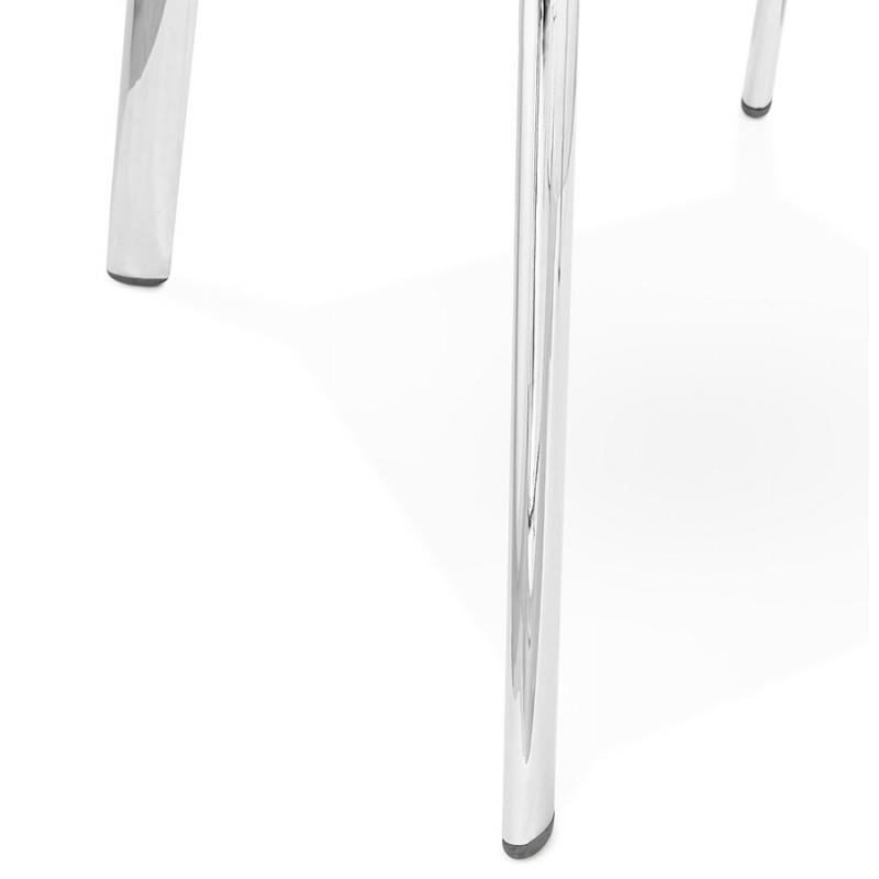 Fauteuil chaise design et rétro MATEO (noir) - image 29117