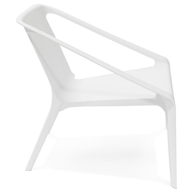 Fauteuil de jardin relax design suny blanc for Fauteuil de jardin blanc