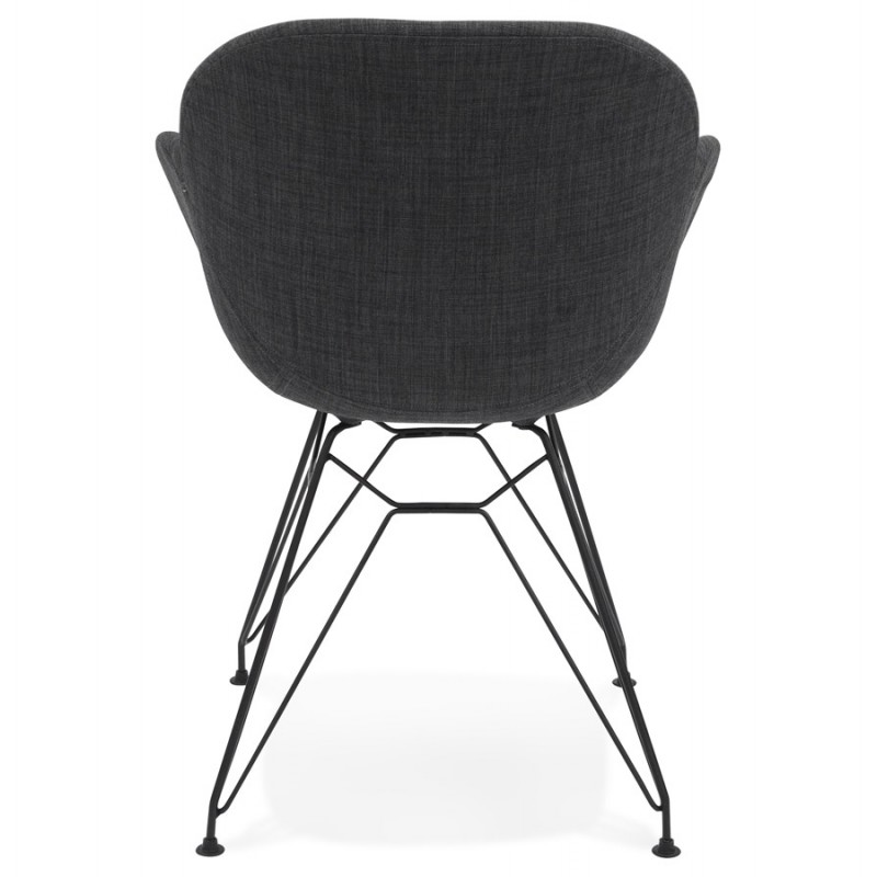 Design chair TOM industrial style fabric (dark gray) - image 29162
