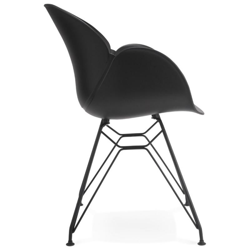 Chaise design style industriel TOM en polypropylène pied métal noir (noir) - image 29174
