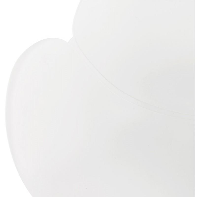 Chaise design style industriel TOM en polypropylène pied métal noir (blanc) - image 29190