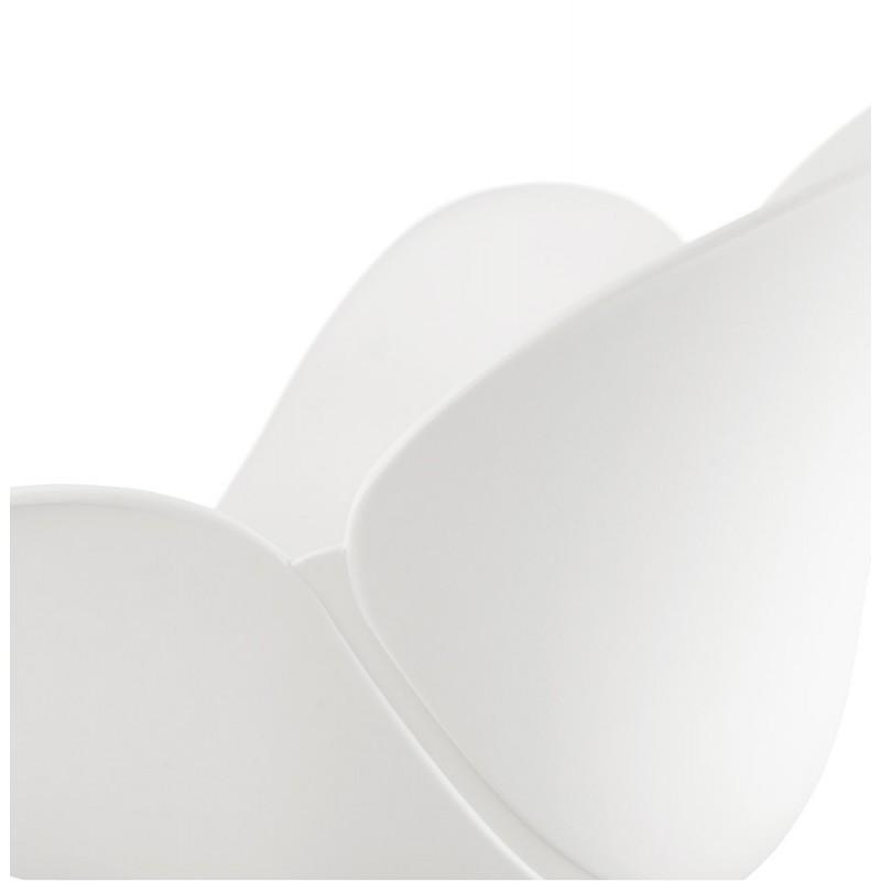 Chaise design style industriel TOM en polypropylène pied métal noir (blanc) - image 29193