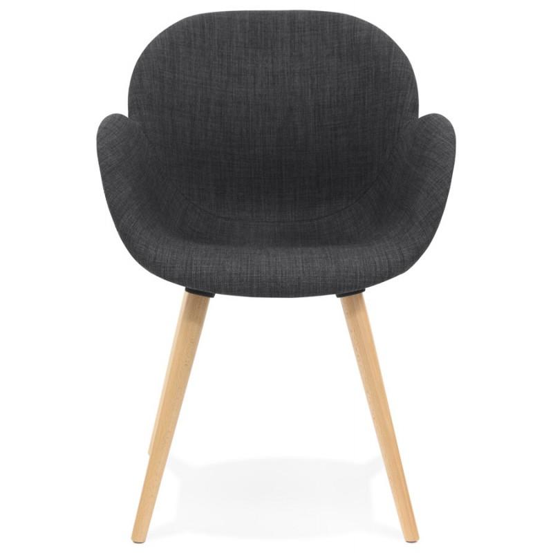 Chaise design style scandinave LENA en tissu (gris foncé) - image 29199