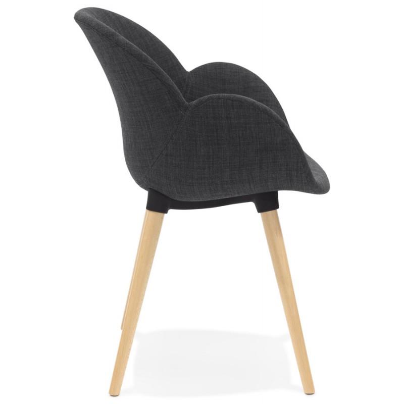 chaise design style scandinave lena en tissu gris fonc. Black Bedroom Furniture Sets. Home Design Ideas