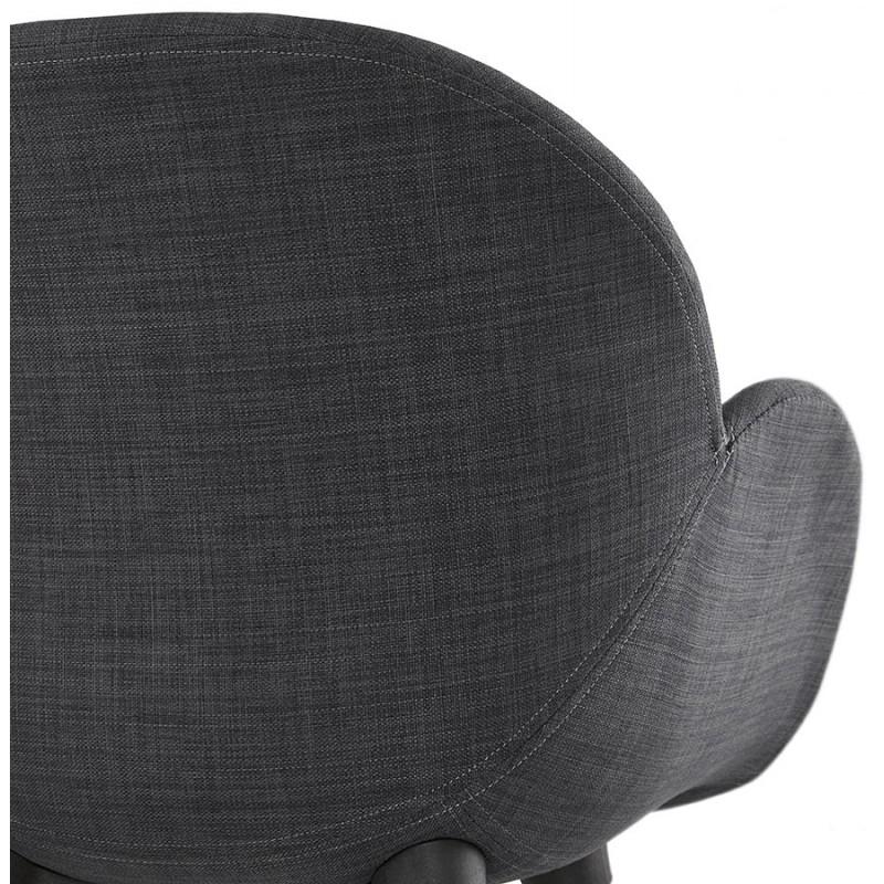 Chaise design style scandinave LENA en tissu (gris foncé) - image 29208