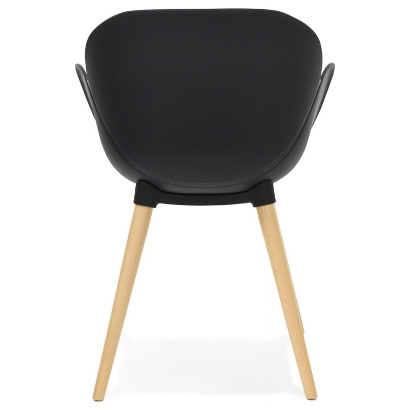Diseño de polipropileno de silla estilo escandinavo LENA (negro) - image 29215