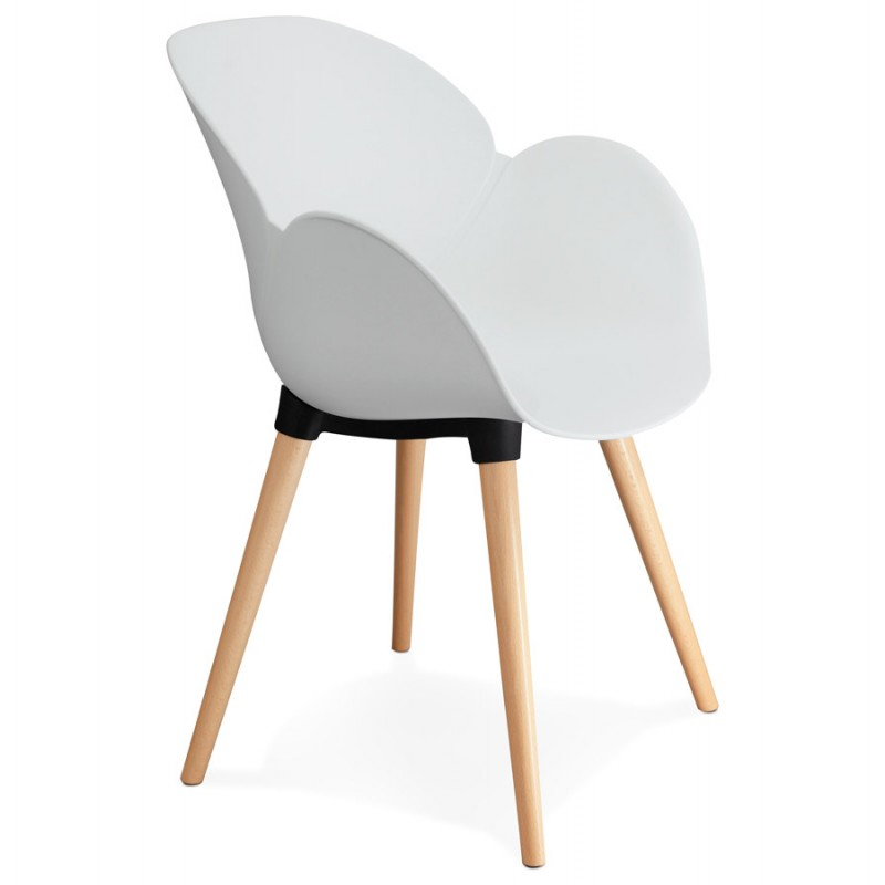 Design chair style Scandinavian LENA polypropylene (white) - image 29224