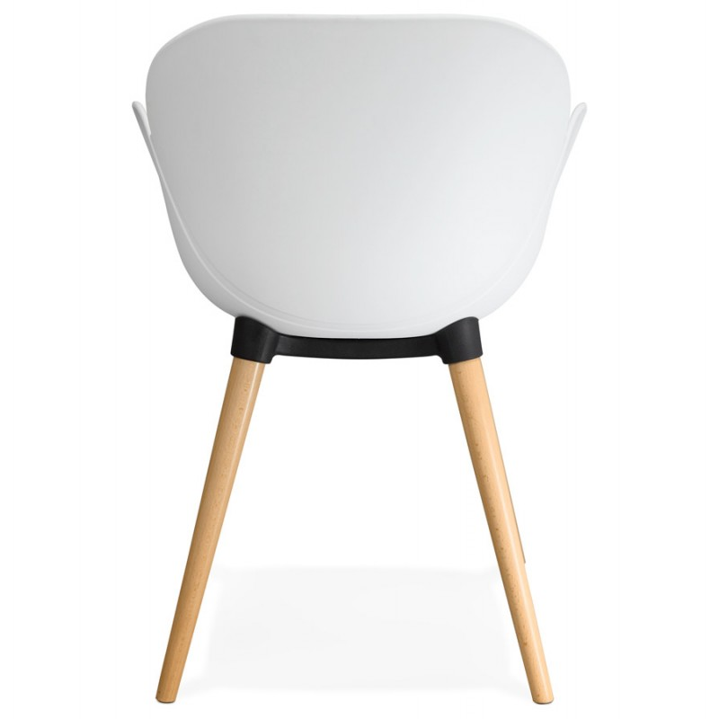 Design chair style Scandinavian LENA polypropylene (white) - image 29227