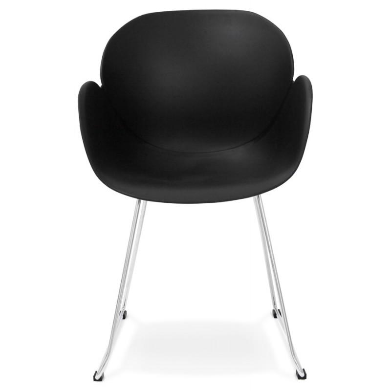 Chaise design pied effilé ADELE en polypropylène (noir) - image 29250