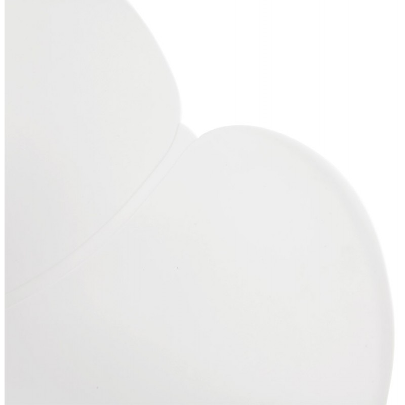 Chaise design pied effilé ADELE en polypropylène (blanc) - image 29266