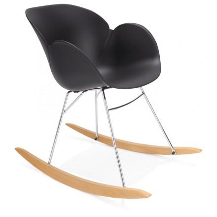 Rocking design EDEN (black) polypropylene Chair