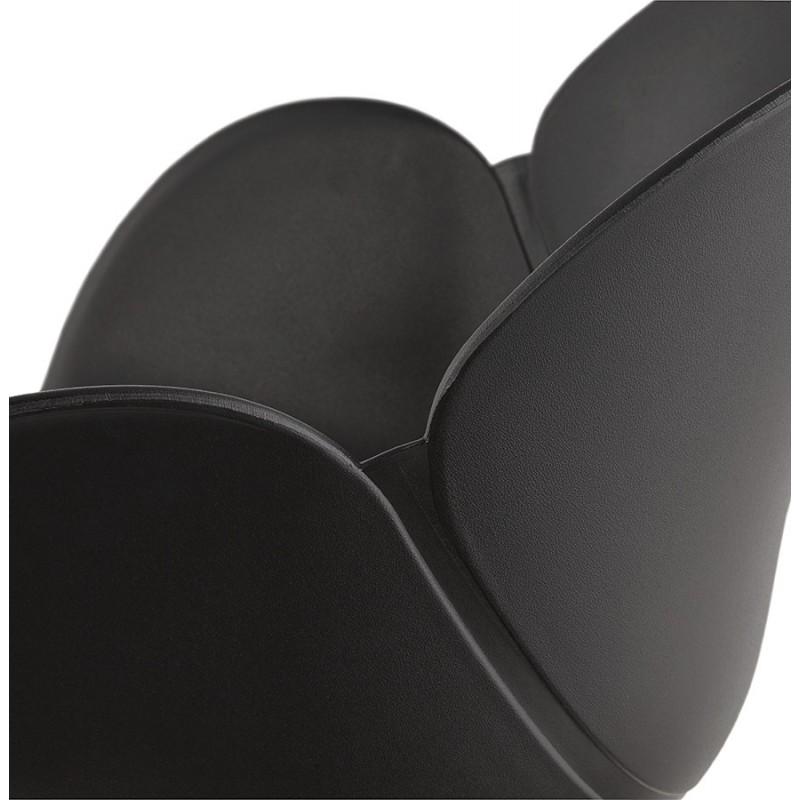 Fauteuil à bascule design EDEN en polypropylène (noir) - image 29297