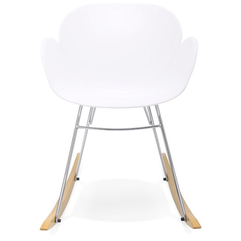 Rocking design EDEN (white) polypropylene Chair - image 29304
