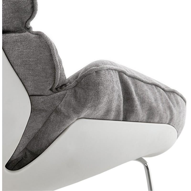 Fauteuil lounge design LILOU en tissu (gris clair) - image 29325