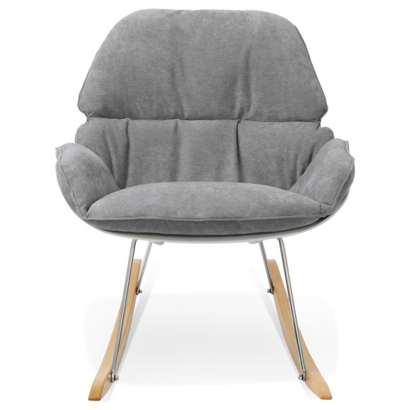 Fauteuil lounge à bascule JADE en tissu (gris clair) - image 29333