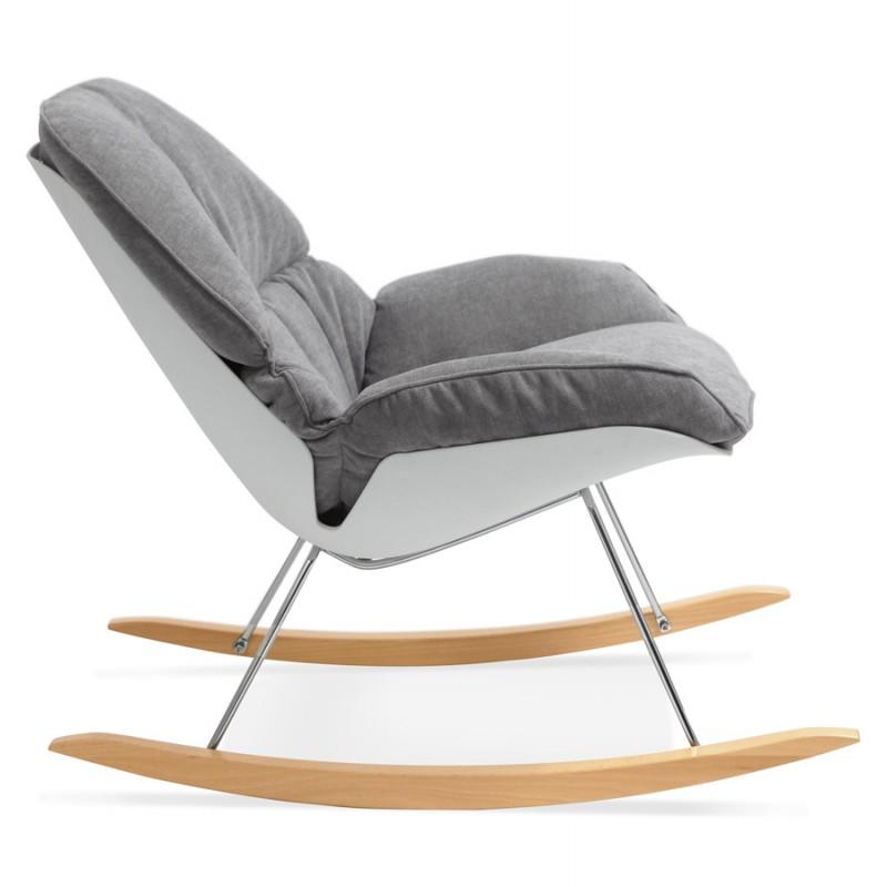 Fauteuil lounge à bascule JADE en tissu (gris clair) - image 29334