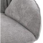 Fauteuil lounge à bascule JADE en tissu (gris clair)