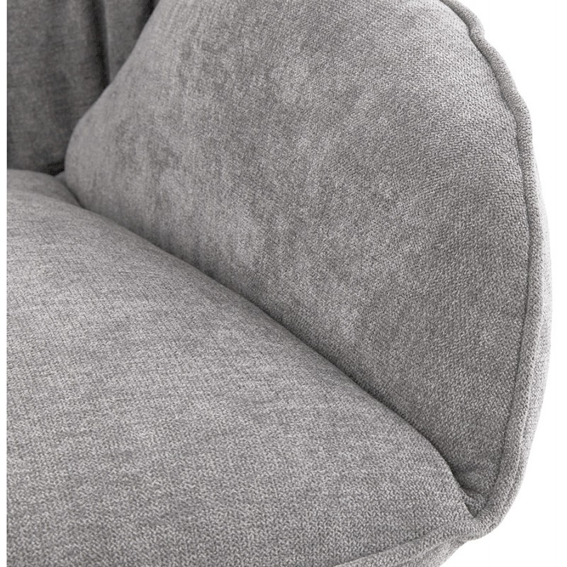 Lounge chair rocking JADE in fabric (light gray) - image 29337