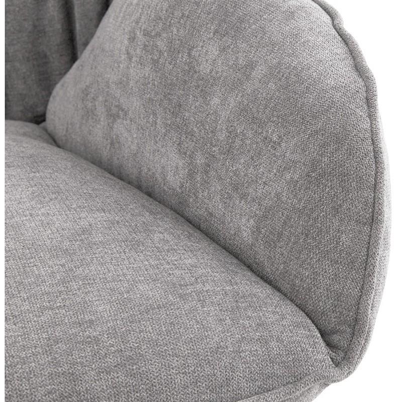Fauteuil lounge à bascule JADE en tissu (gris clair) - image 29337