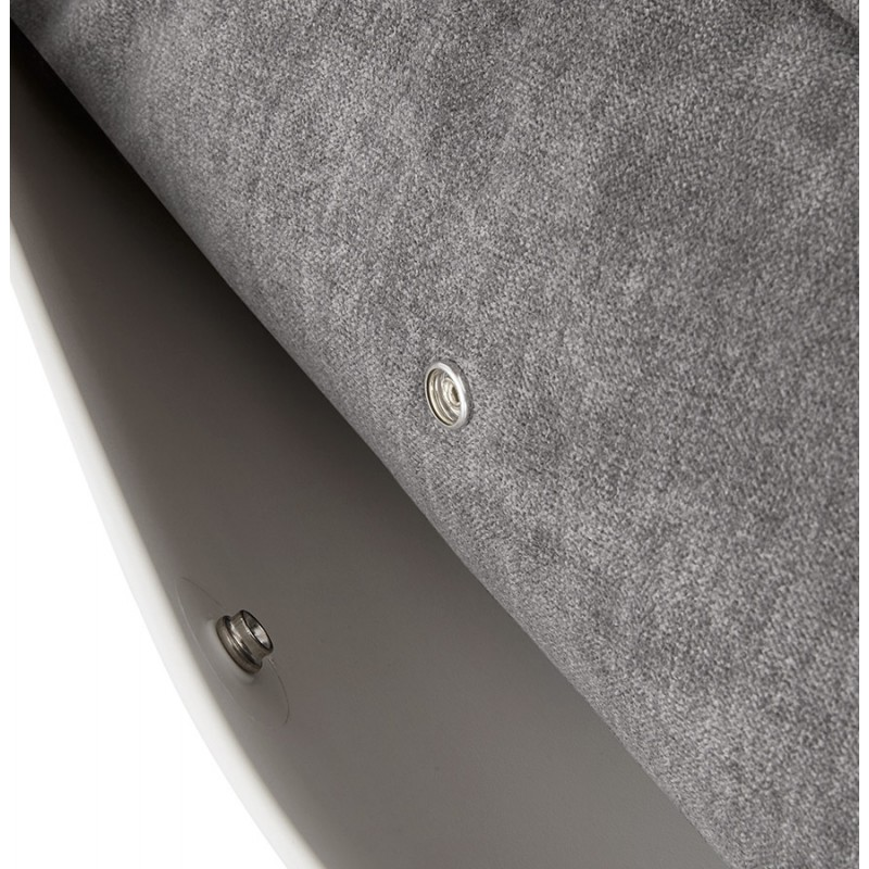 Fauteuil lounge à bascule JADE en tissu (gris clair) - image 29340