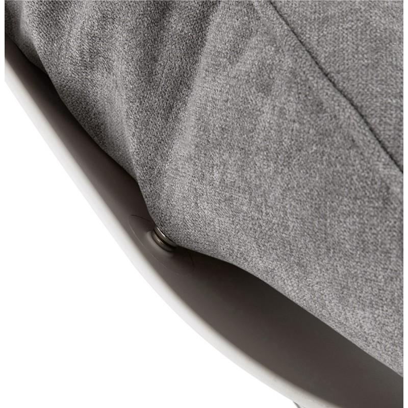 Fauteuil lounge à bascule JADE en tissu (gris clair) - image 29341