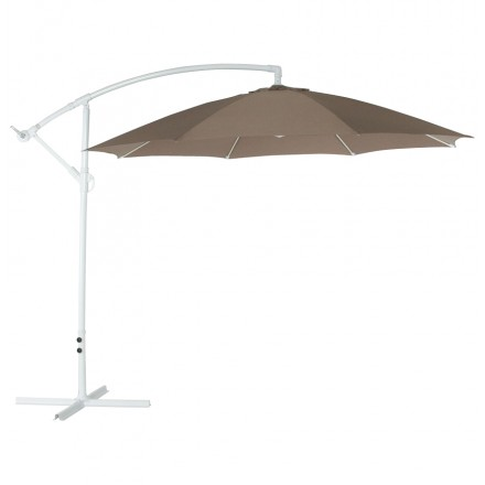 Octagonal deported parasol ALICE in polyester and aluminium (mole)