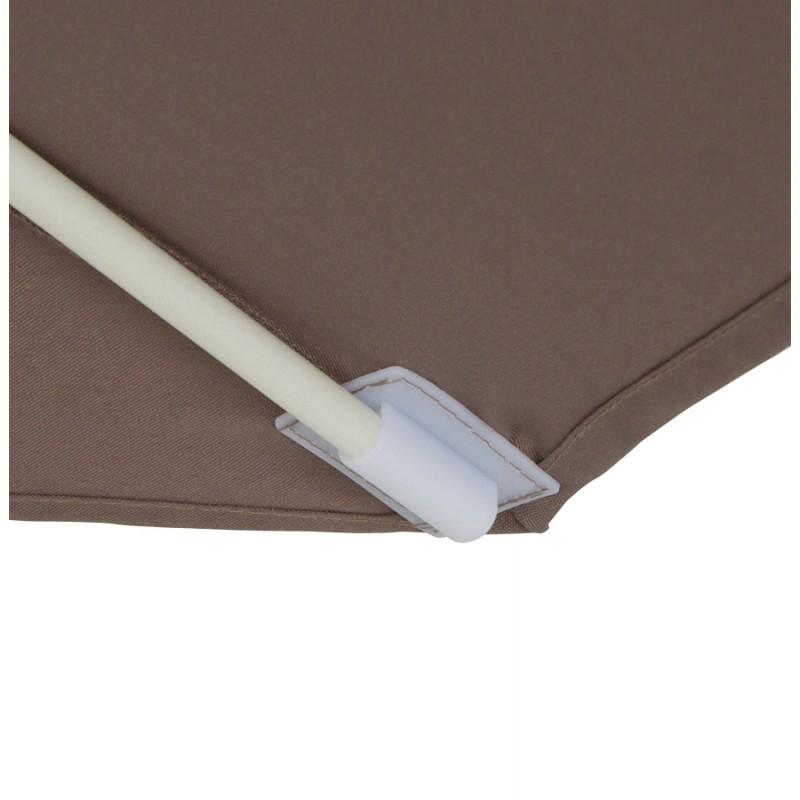 Parasol déporté octogonal ALICE en polyester et aluminium (taupe) - image 29376