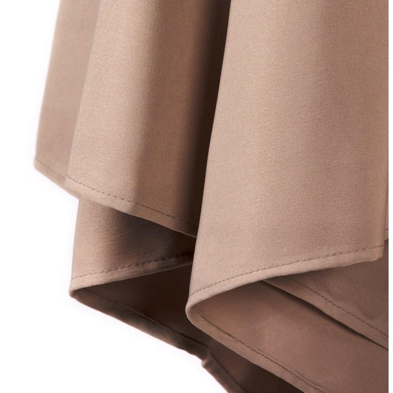 Parasol hexagonal MILOU en polyester et bois indonésien (taupe) - image 29381
