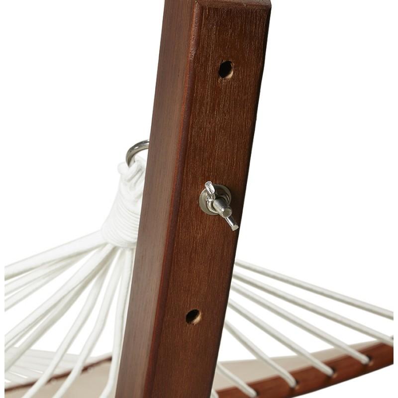 Hamac pied arqué JULES en bois et toile démontable (taupe) - image 29407