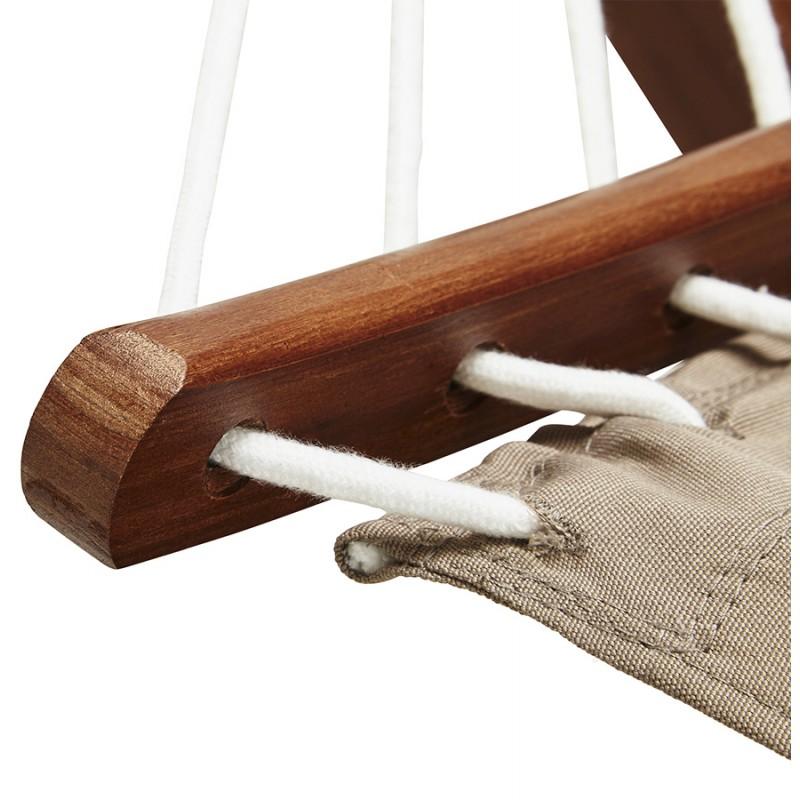 Hamac pied arqué JULES en bois et toile démontable (taupe) - image 29408