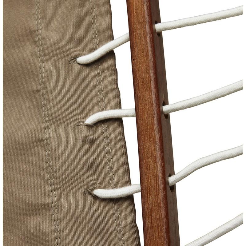 Hamac pied arqué JULES en bois et toile démontable (taupe) - image 29409