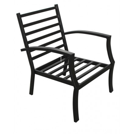 Set of 4 chairs CROZET aspect wrought iron (black)