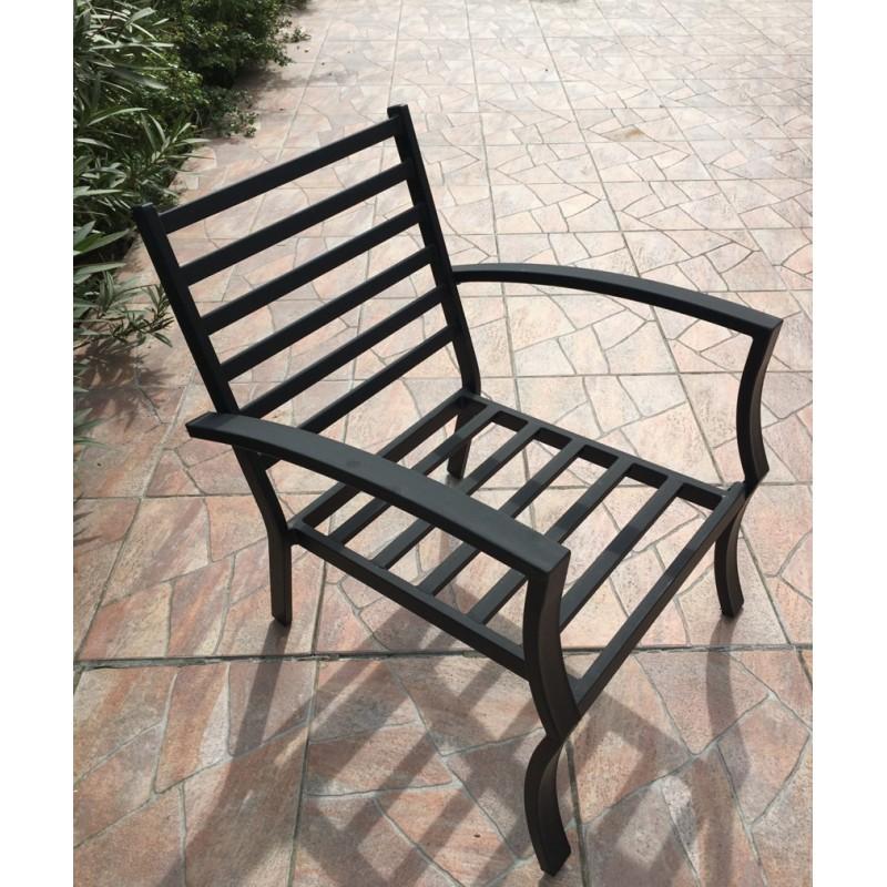 Lot de 4 chaises de jardin CROZET aspect fer forgé (noir) - image 29419
