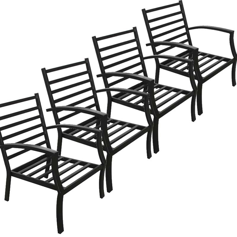 Garden Low Table 4 Elbe Aspect Black Wrought Iron Garden Chairs