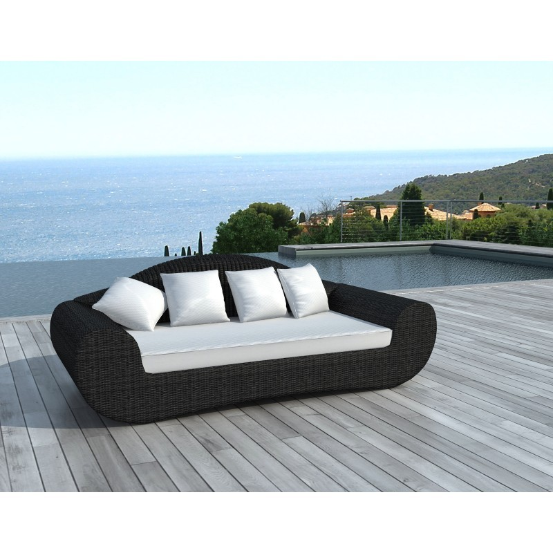 canap de jardin 4 places diana en r sine tress e ronde. Black Bedroom Furniture Sets. Home Design Ideas