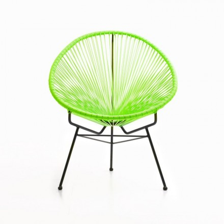 Garden Mallorca (green) round braided resin Chair