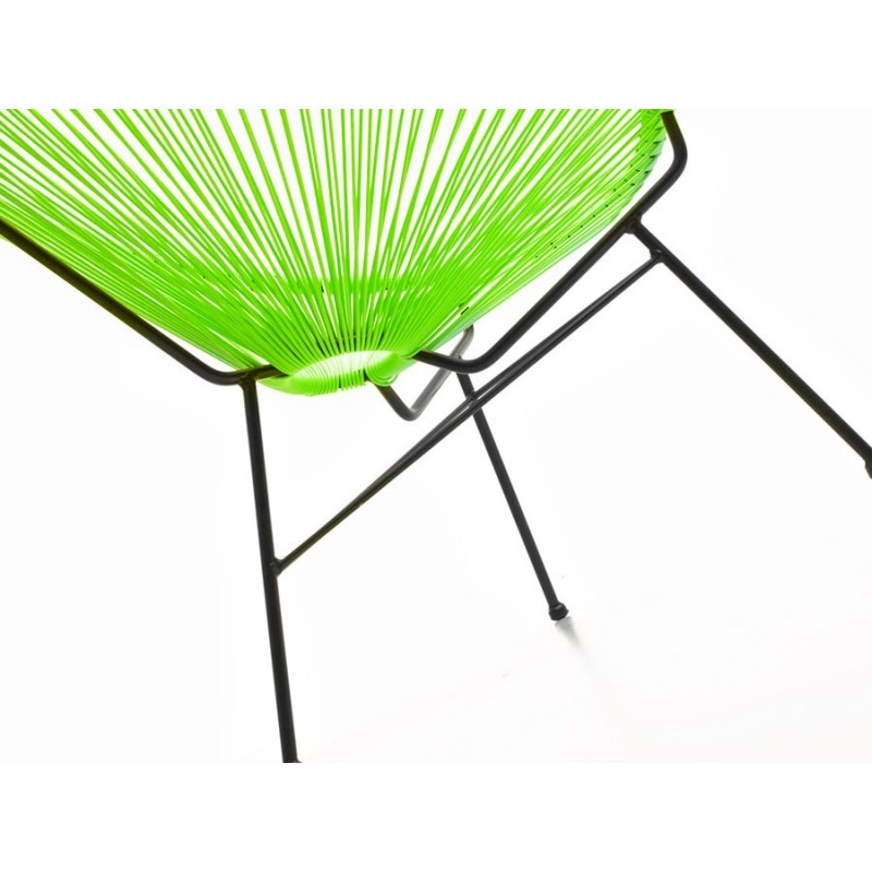 Fauteuil de jardin MAJORQUE en résine tressée ronde (vert) - image 29834