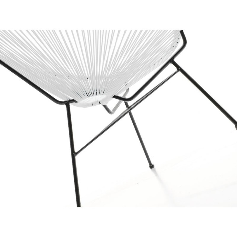 Fauteuil de jardin MAJORQUE en résine tressée ronde (blanc) - image 29842