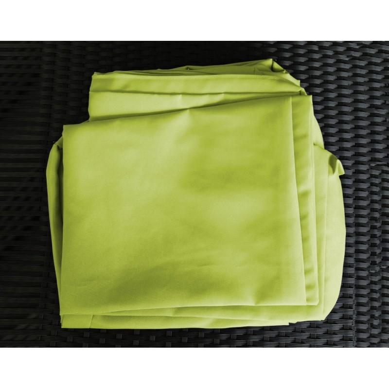 Salon de jardin 5 places SEVILLE en résine tressée (noir, coussins vert) - image 29855