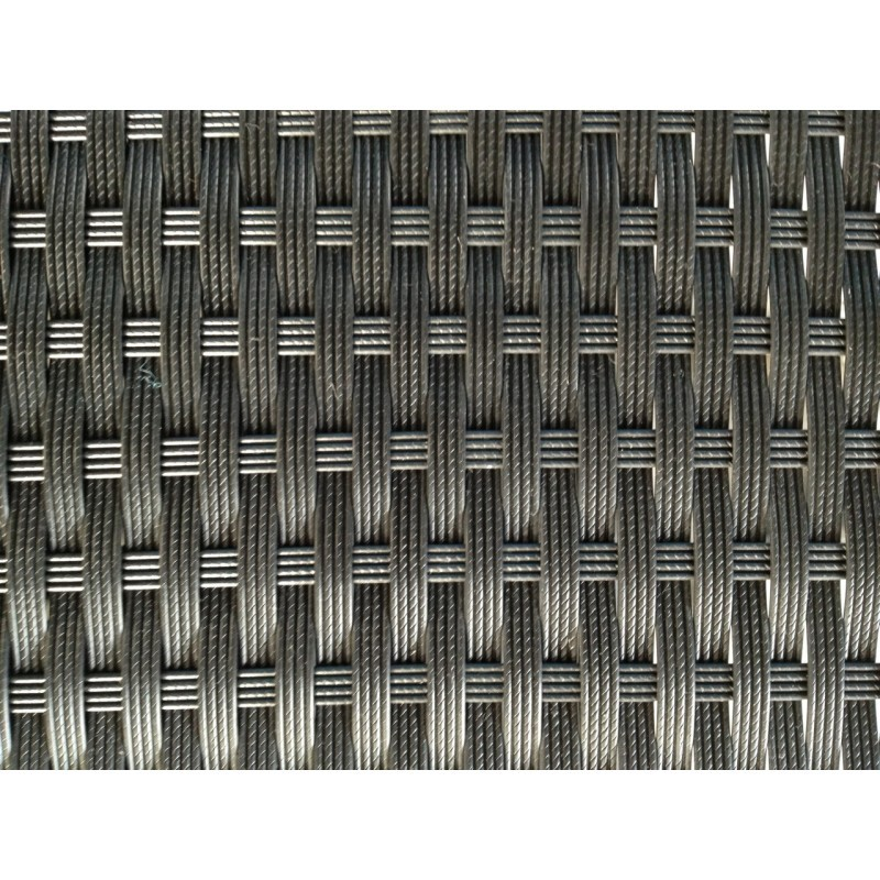 Fauteuil de jardin SALOU en résine tressée (noir, coussins blanc/écru) - image 29887