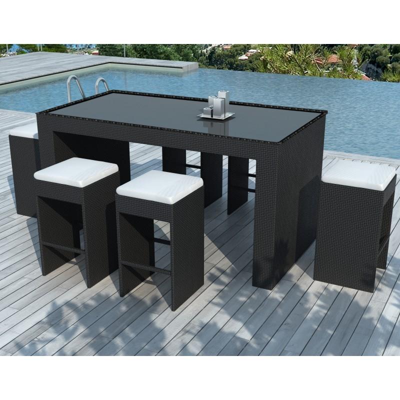 Arredo Giardino Per Bar.Arredamento Bar E 6 Sgabelli Da Giardino Porto In Resina Intrecciata