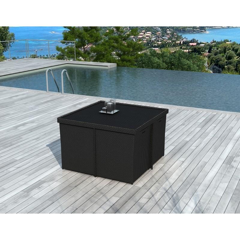 salon de jardin 8 places encastrable ubeda en r sine. Black Bedroom Furniture Sets. Home Design Ideas