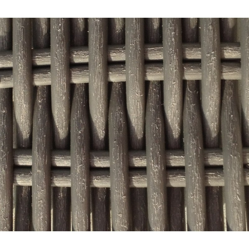 Table à manger et 6 chaises de jardin MORA en résine tressée (gris) - image 29976
